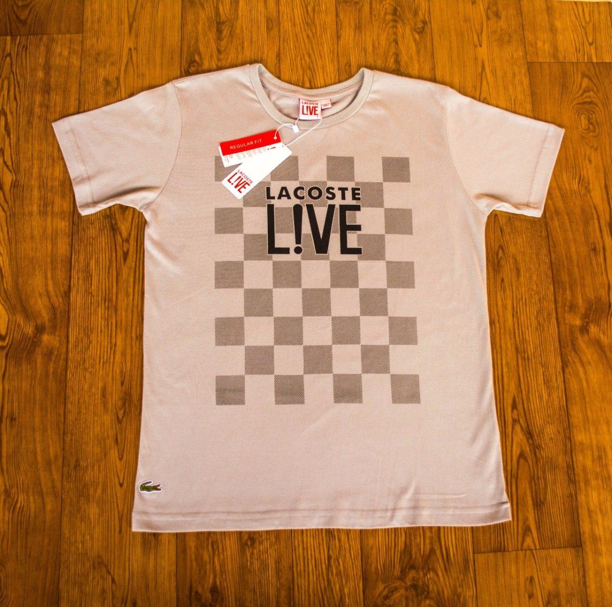 0e52fd1518b camiseta malha peruana lacoste live 6 unidades frete gratis. Carregando zoom .