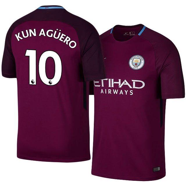 2610d2ab2 Camiseta Manchester City 10 Aguero 2017 18 -   1.400