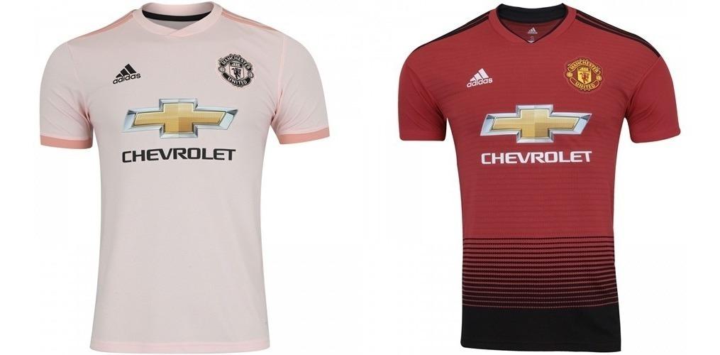 new styles 2e92d 2f891 Camiseta Manchester United Home / Away Kit Com 2 Camisas