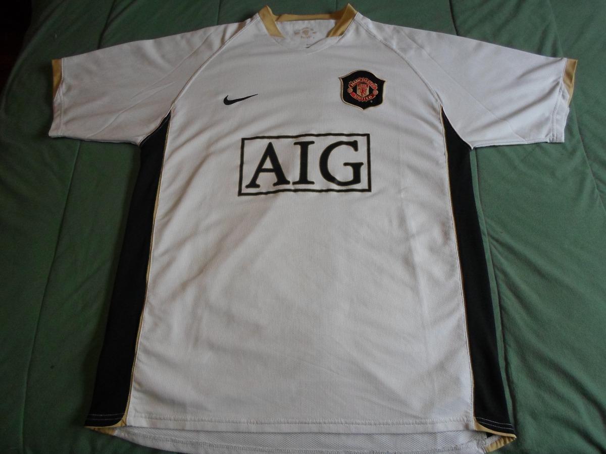 5e302214c8 camiseta manchester united suplente blanca 2006 2008. Cargando zoom.