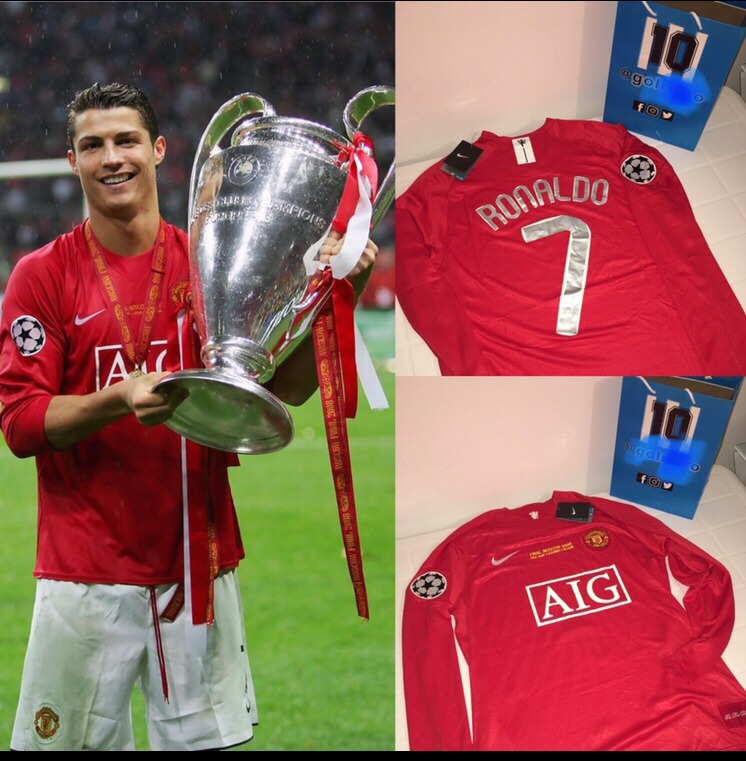 62e5f5ba8 Camiseta Manchester Utd Cristiano Ronaldo Final Champions -   1.600 ...