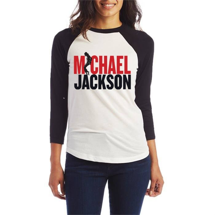 1f1e03bf2 Camiseta Feminina Michael Jackson Babylook Manga 3/4 Blusa - R$ 79 ...