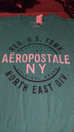 camiseta manga corta aeropostale original talla m