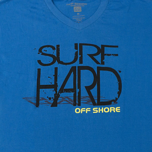 camiseta manga corta cuello v hombre color azul off shore