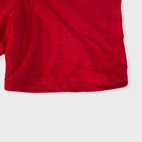 camiseta manga corta cuello v hombre color rojo t-shirt