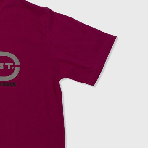 camiseta manga corta cuello v hombre color rosa dust