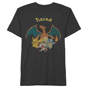 f8335f82c2 Camiseta Manga Corta De Charizard Y Grupo Pokemon Talla L