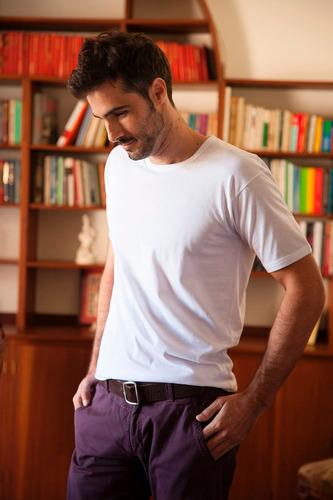 camiseta manga corta escote v/redondo jersey tres ases