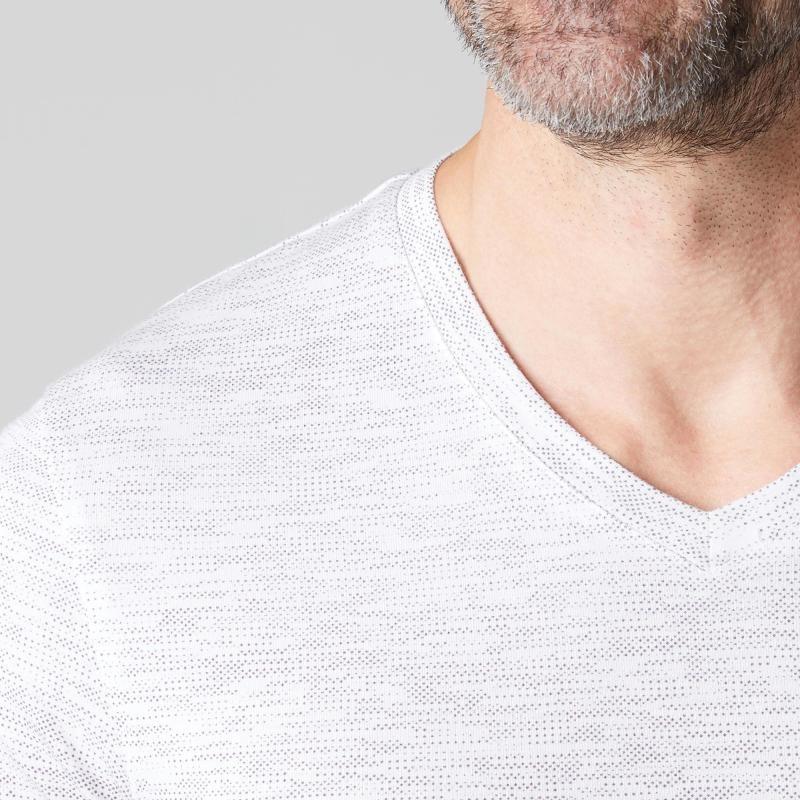 ff741a421 camiseta manga corta gimnasia pilates 500 regular blanco. Cargando zoom.