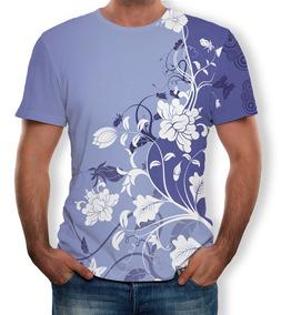 1461c7cd0 Camiseta Manga Corta Hombre Estampado Flores Moda Verano 3d