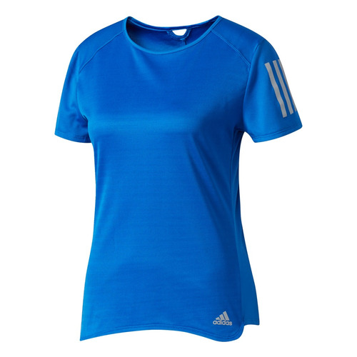 camiseta manga corta para correr de mujer adidas rs ss tee w