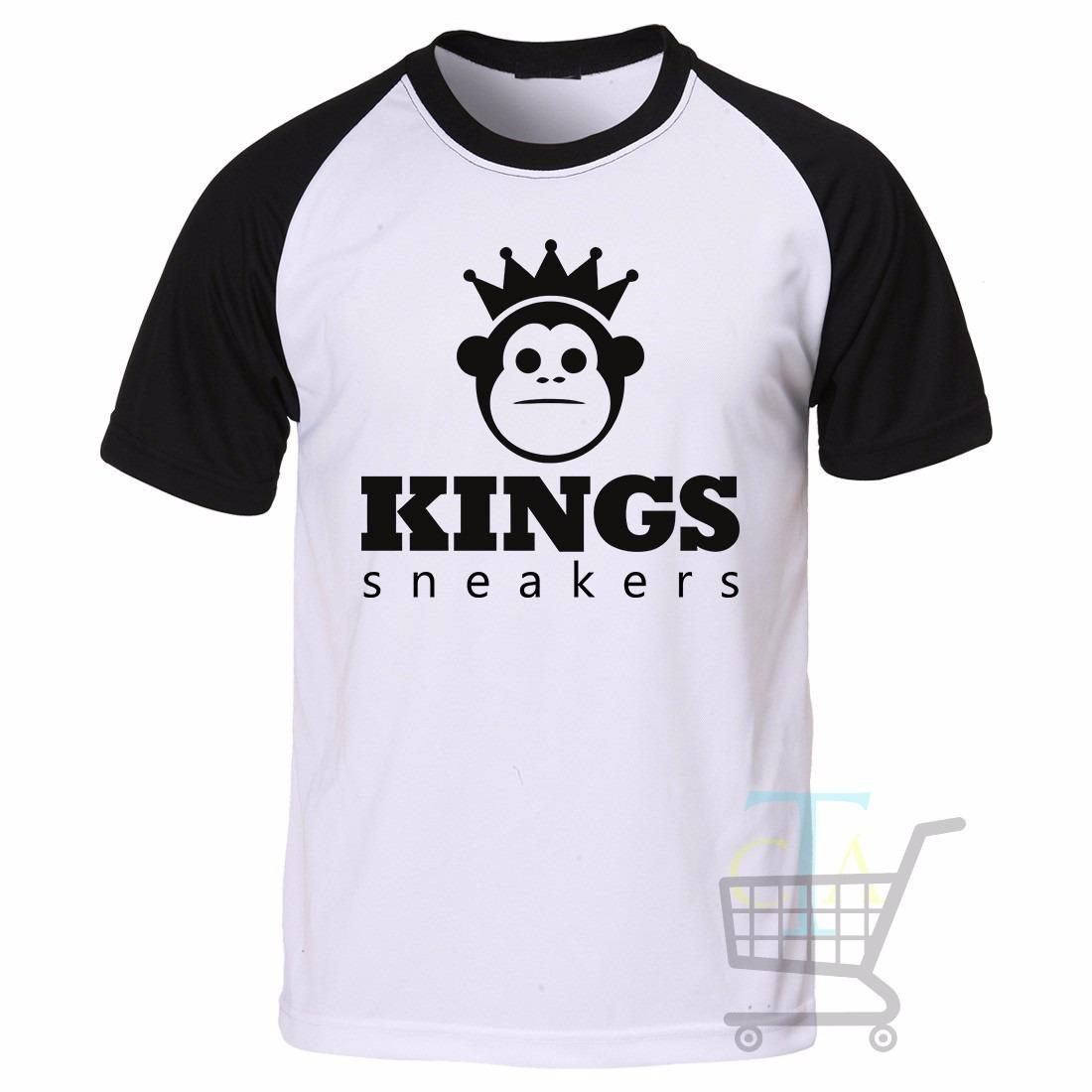 Camiseta Kings Sneakers Raglan Manga Curta - Promoção - R  39 4751c5bae82