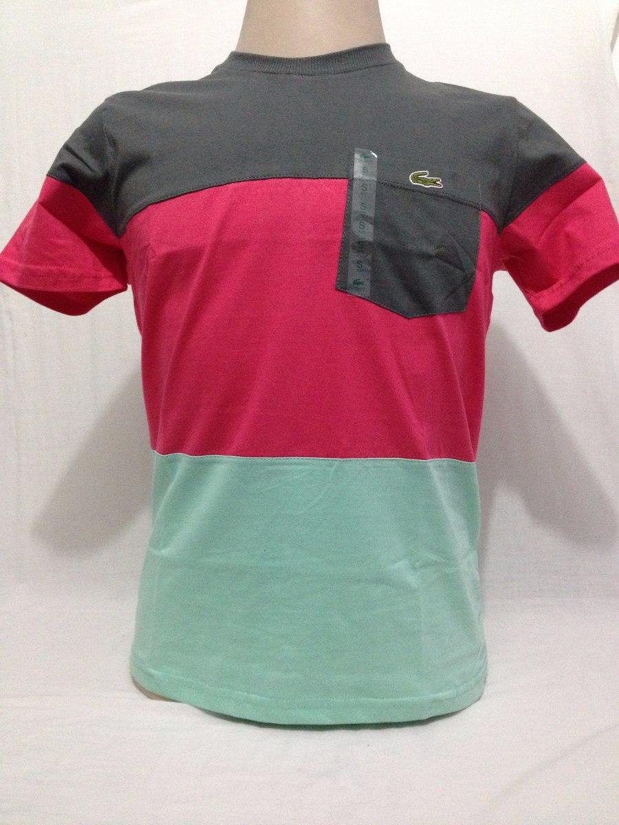 e41e0308b30 Camiseta Lacoste Live 100% Original Made In Peru Manga Curta - R  54 ...
