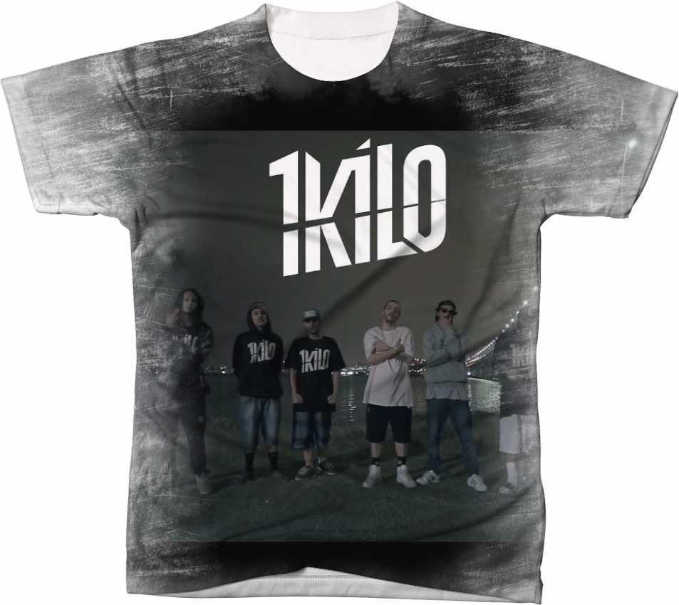 Camisa Camiseta Manga Curta 1 Kilo Rap Hip Hop Música 1 - R  44 58a42d5c226f5