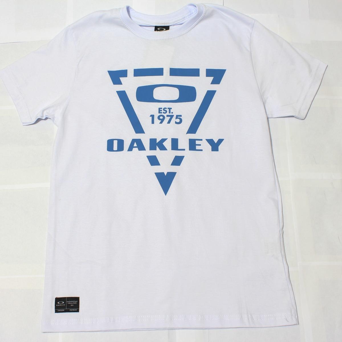 76d1815ae3953 Camiseta Oakley Manga Curta Estampada (surf)