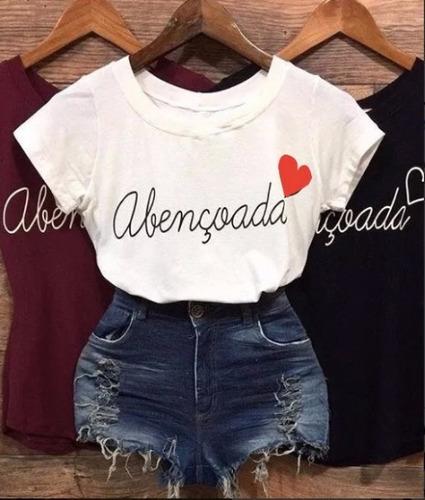 camiseta manga curta blusas