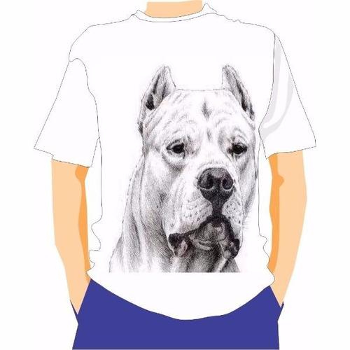 camiseta manga curta caçadores brs- dogo argentino 2