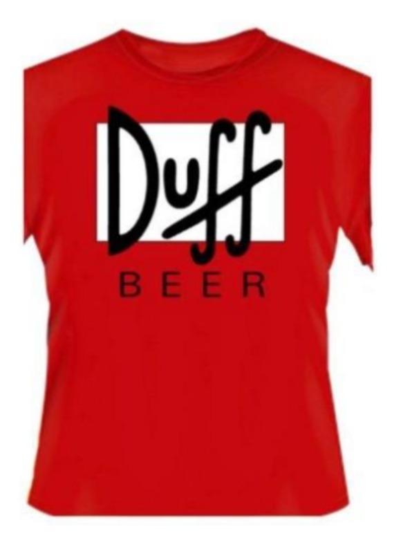 0ac5f8abd Camiseta Manga Curta Duff Beer Simpsons Símbolo Cerveja - R$ 37,90 ...