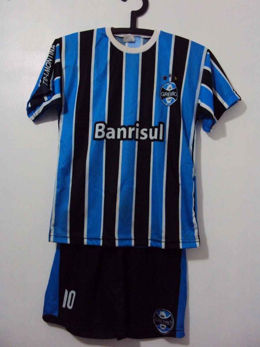 Camiseta Manga Curta E Calção Grêmio Infantil - R  45 a1813bb6828e4