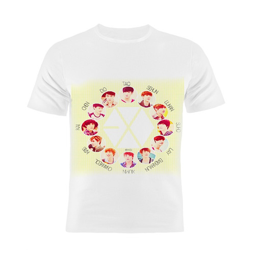 camiseta manga curta kpop exo coreanos