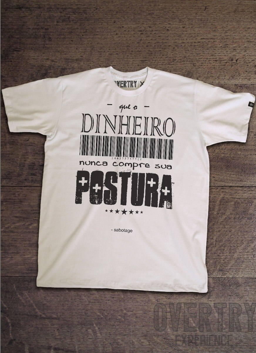 bc479ee94 Camiseta Manga Curta Overtry Rap Nacional Frase Sabotage - R  69