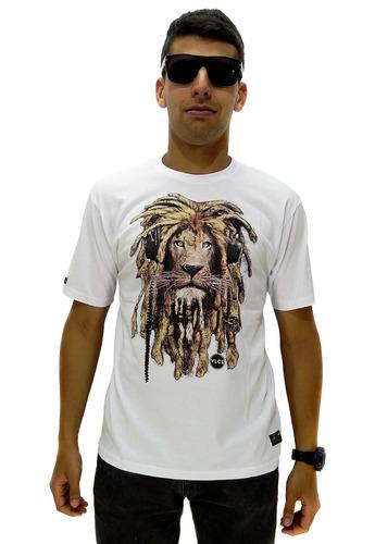 camiseta manga curta vlcs lion roots sem capuz white