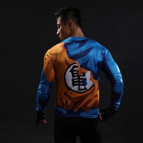 camiseta manga larga camibuso goku dragon ball z talla xl