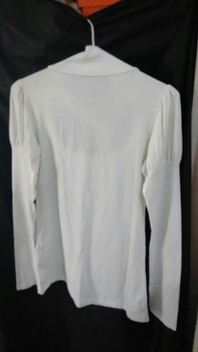 camiseta manga larga con lazo y manga farolíto