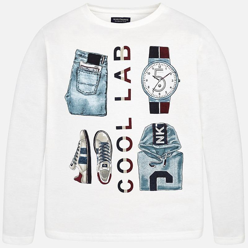 781065259 Camiseta Manga Larga Cool Lab Para Niño Mayoral Nata -   451.29 en ...