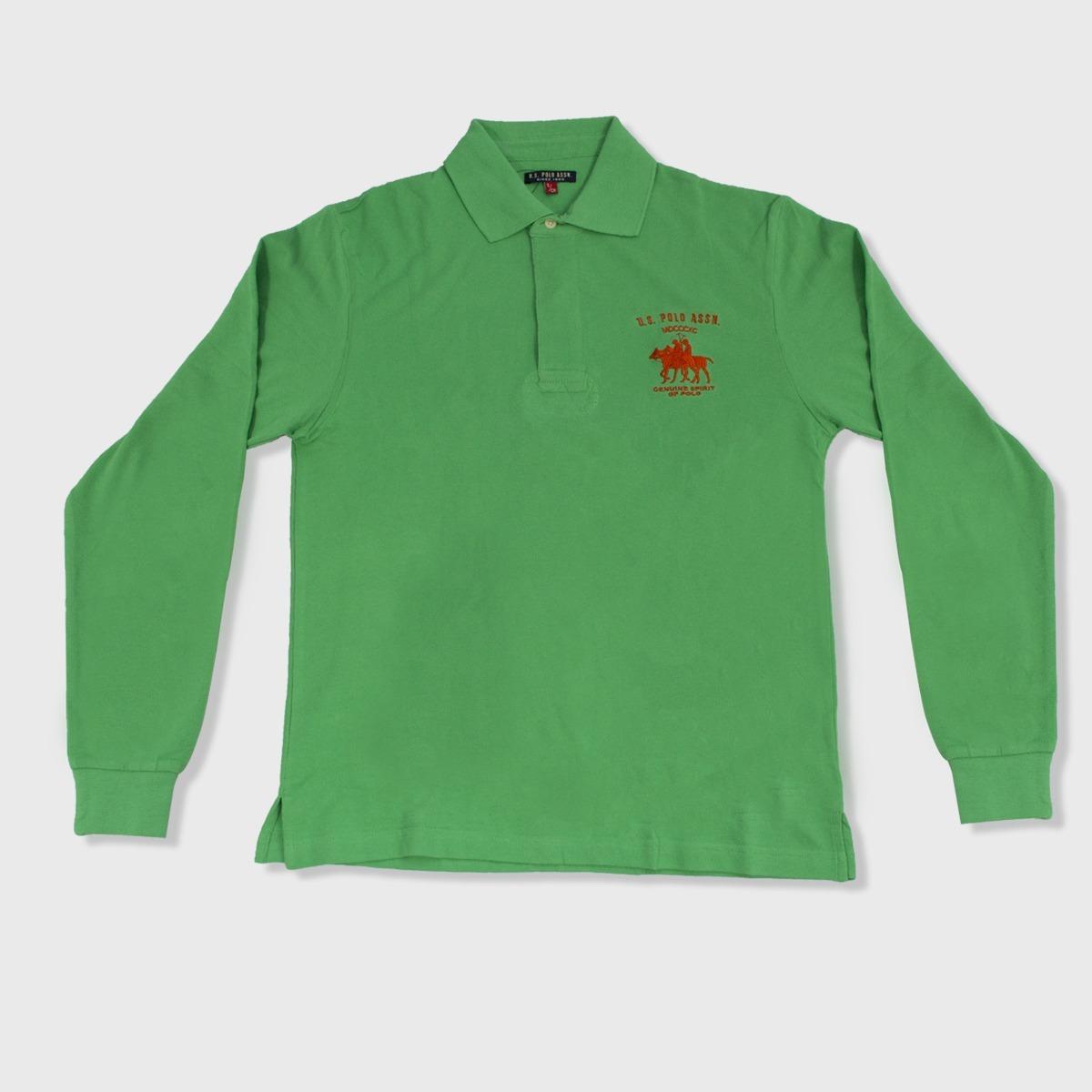 camiseta manga larga cuello tipo polo hombre color verde. Cargando zoom. 566875f7982fe