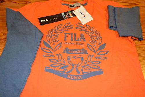 camiseta manga larga fila original y nueva