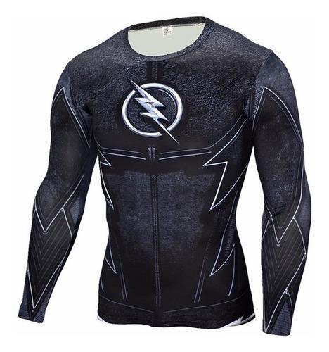 camiseta manga larga flash alter ego color negro