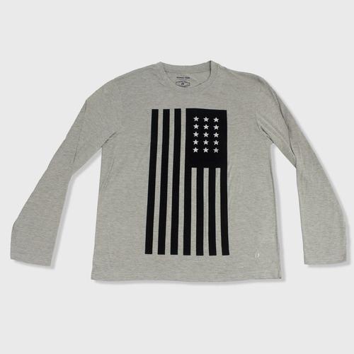 camiseta manga larga hombre hang ten talla xl gris claro