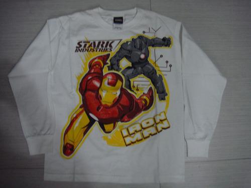 camiseta manga larga iron man org usa