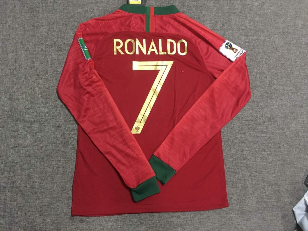 cd8666ec871ff Camiseta Manga Larga Portugal Ronaldo Rusia 2018 -   16.000 en ...