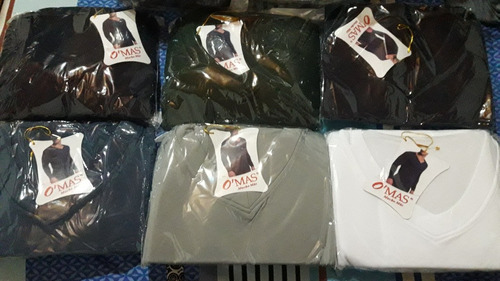 camiseta manga larga termica cuello v  omas xdocena