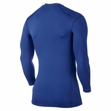 bc43007991 Camiseta Nike Pro Combat Manga Longa Azul V2mshop - R  129