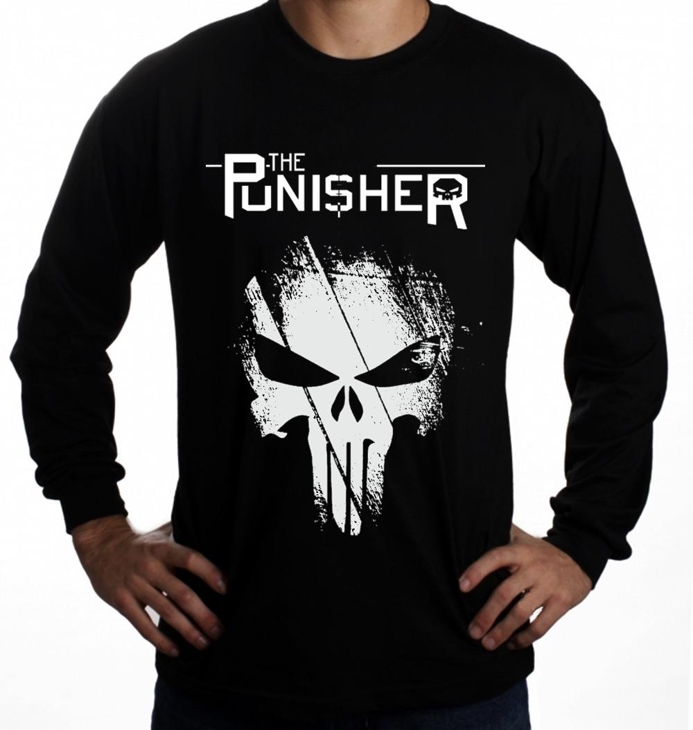 fdd191b0fdc Camisa Camiseta Justiceiro Punisher Future Manga Longa Face - R  29 ...