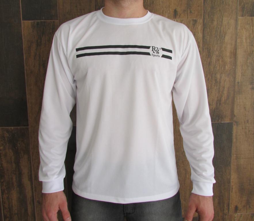 28836016f0562 Camiseta Manga Longa Malha Dry Fit 100 % Poliéster - R  36