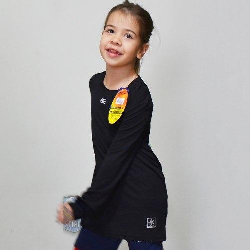 Camiseta Infantil Feminina Manga Longa Kanxa Prot Solar + Nf - R  55 ... 68071419d2797