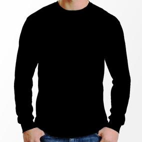5e6b6ed109 Camiseta De Lan Manga Longa Lisa Camisetas Masculino - Camisetas e ...