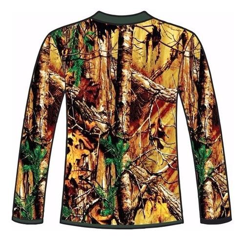 camiseta manga longa caçadores brs- acuação 2