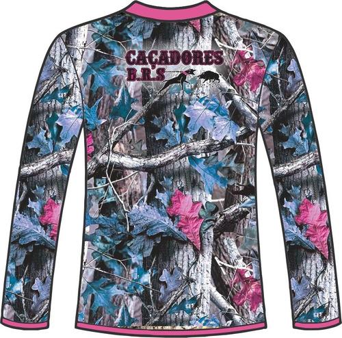 camiseta manga longa feminina caçadores brs 1