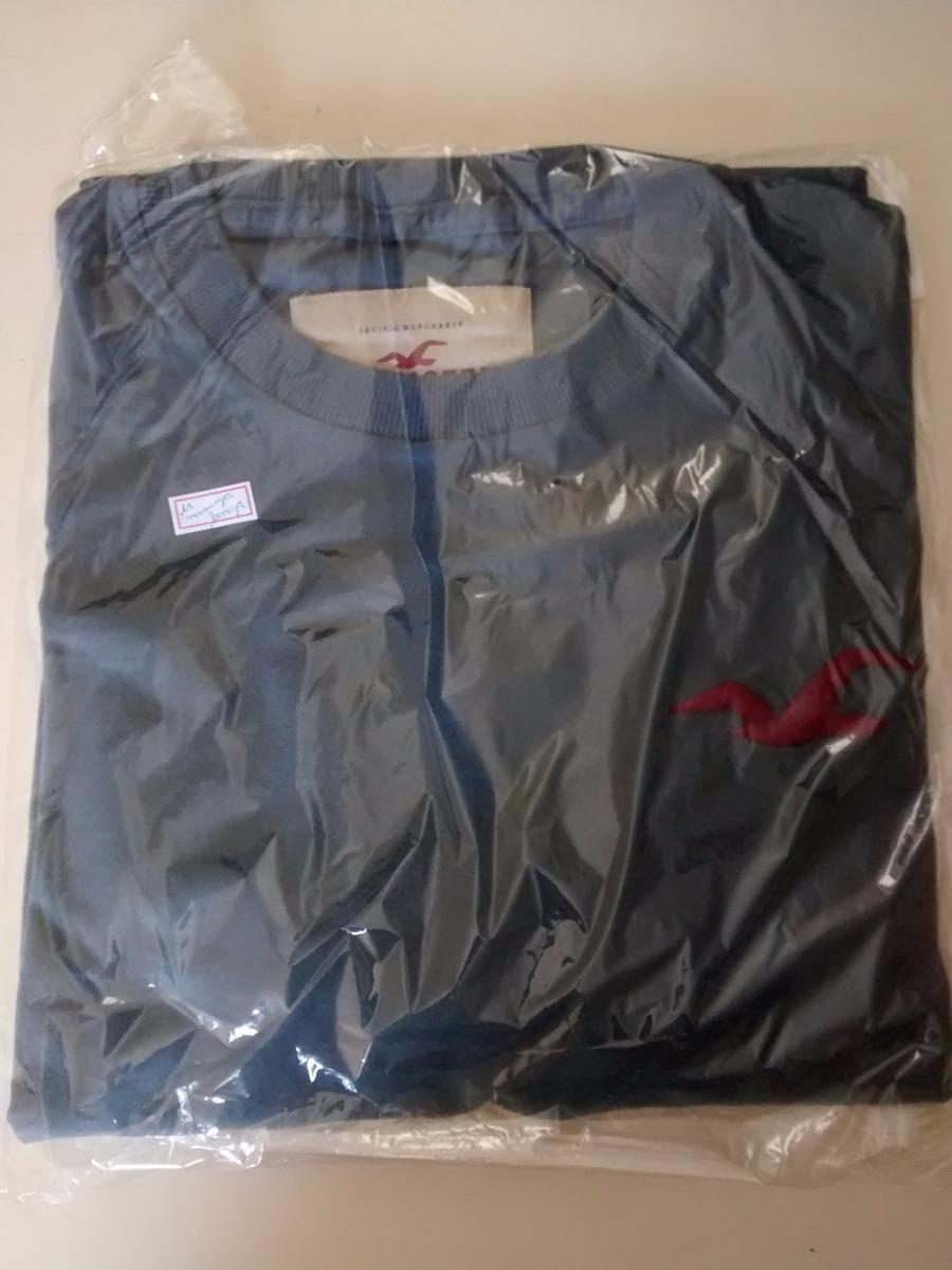 f78e62fb40 camiseta manga longa hollister original cinza pronta entrega. Carregando  zoom.