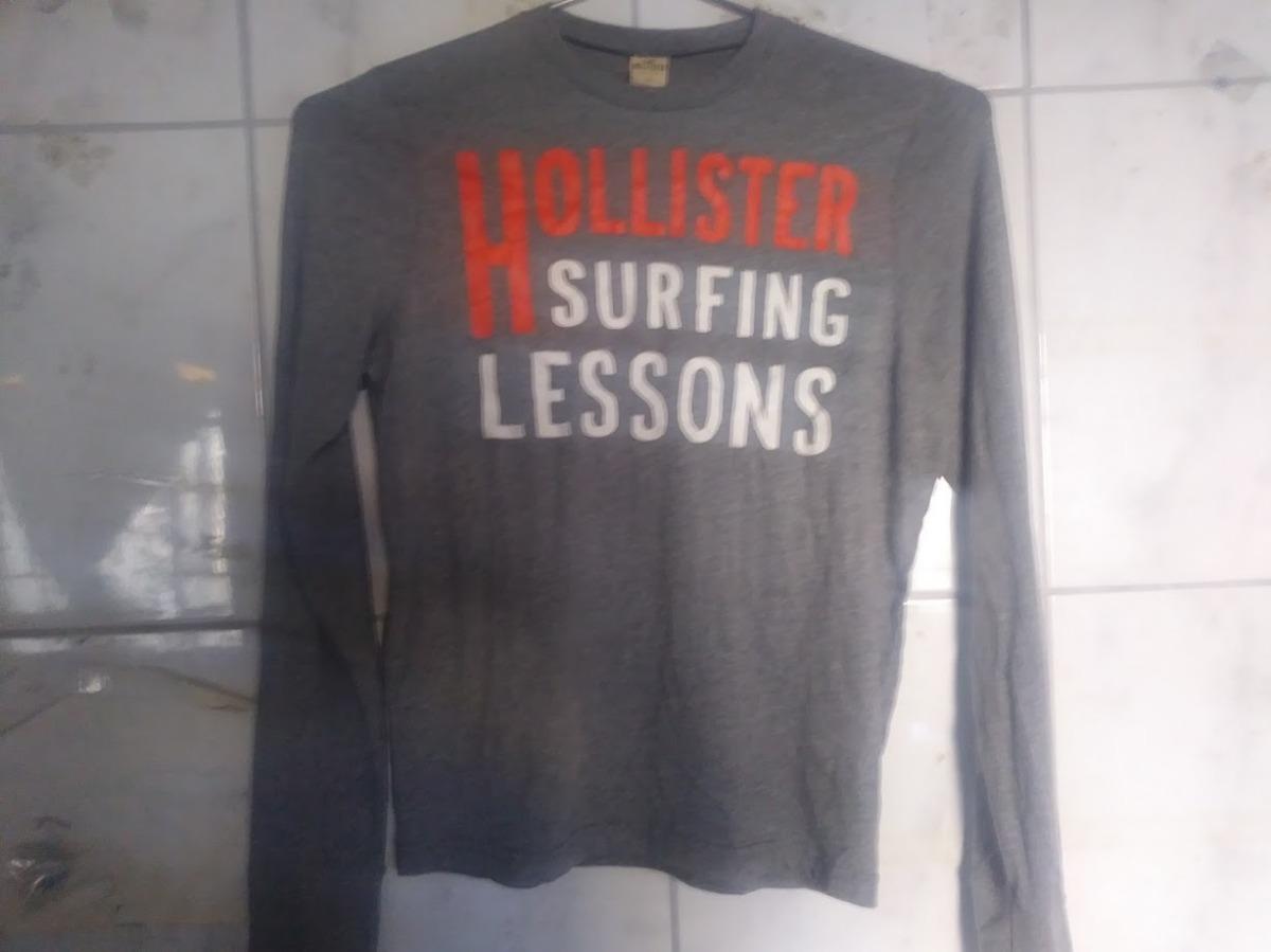 888e6615c4 camiseta manga longa hollister surfing lessons m 72cm x 52cm. Carregando  zoom.