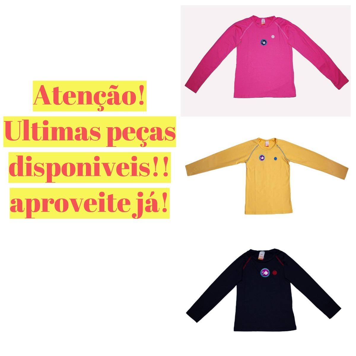 be1b3ab8f574 camiseta manga longa marisol infantil proteção uv promoção. Carregando zoom.