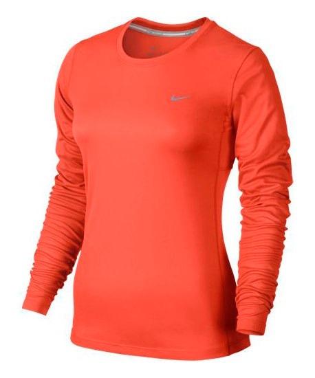 Camiseta Manga Longa Nike Miler Feminina De R 109 f82caa8c0a564
