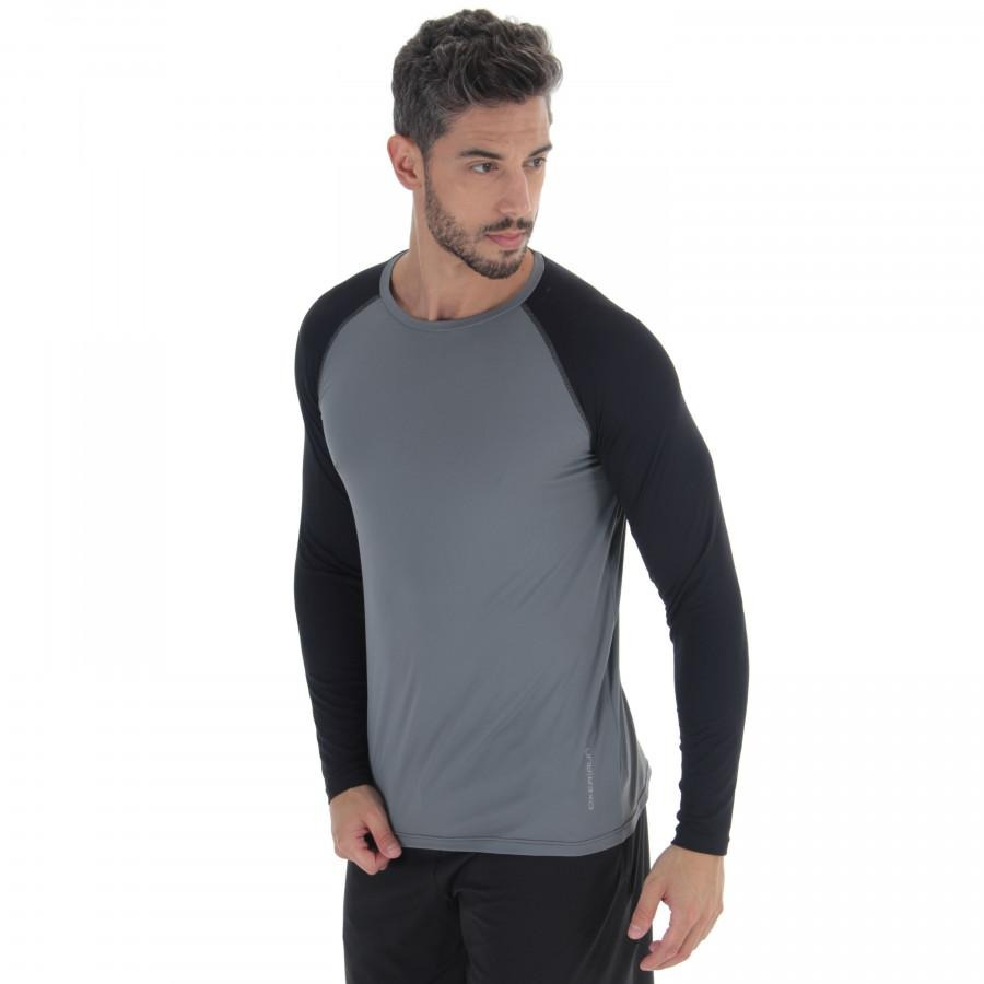 cd2223860e29a camiseta manga longa oxer custom - masculina - cinza preto. Carregando zoom.