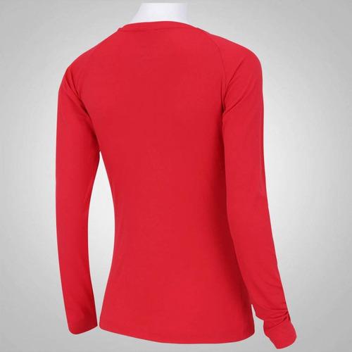 Camiseta Manga Longa Proteção Solar Oxer Custom - Vermelho - R  49 ... 9cb98348f85