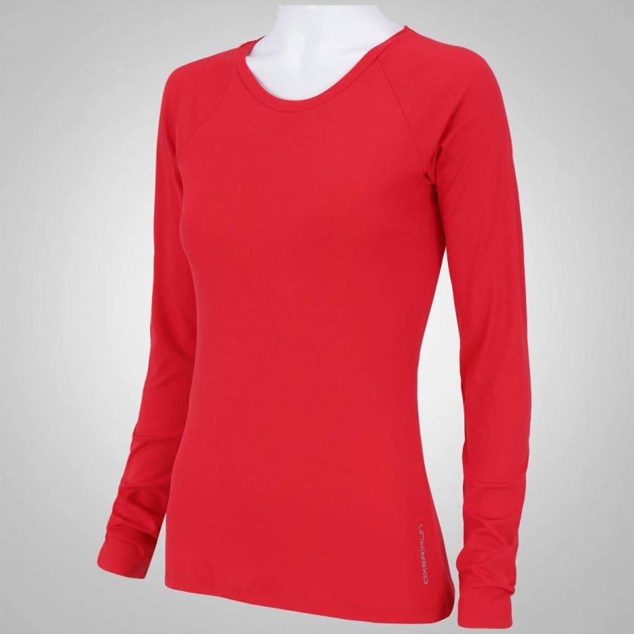 camiseta manga longa proteção solar oxer custom - vermelho. Carregando zoom. 68bf66580e5